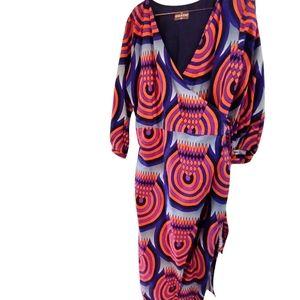NWOT Ghana Design Nallem Wrap Dress XXL